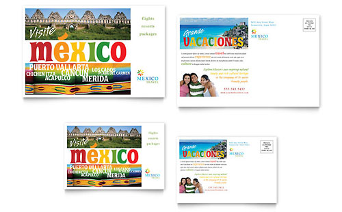 Mexico Travel Postcard Template