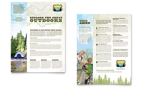 Nature Camping & Hiking Datasheet Template