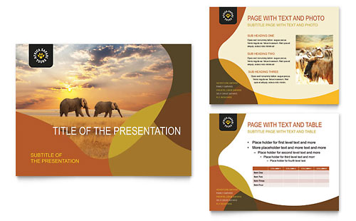 African Safari PowerPoint Presentation Template
