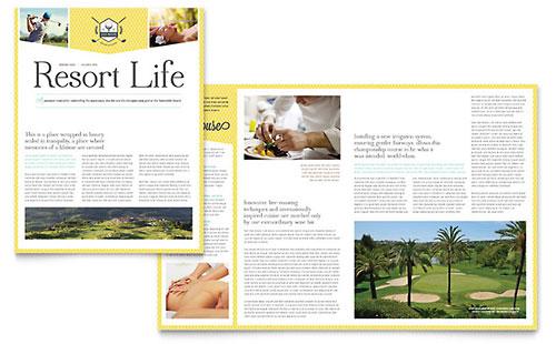 Golf Resort Newsletter Template