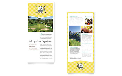 Golf Resort - Sample Rack Card Template