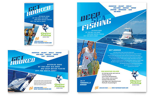 Fishing Charter & Guide Flyer & Ad Template