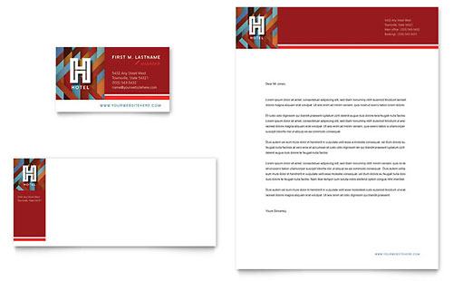 Hotel Business Card & Letterhead Template