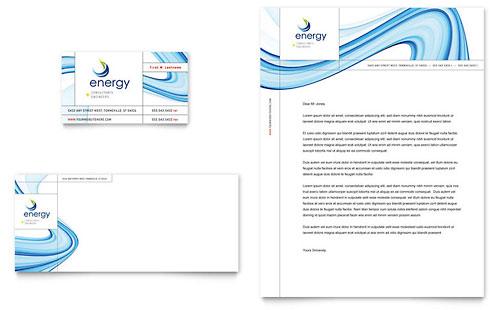 Energy Environment Letterheads – Business Letterhead Samples