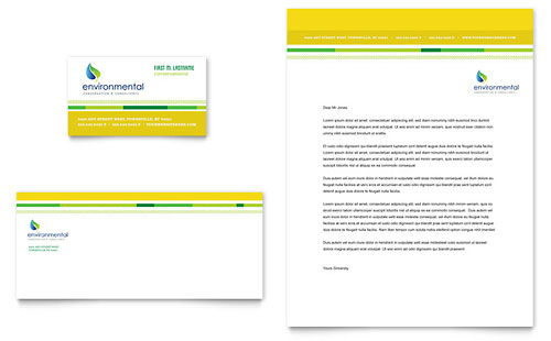 Environmental Conservation - Business Card & Letterhead Template