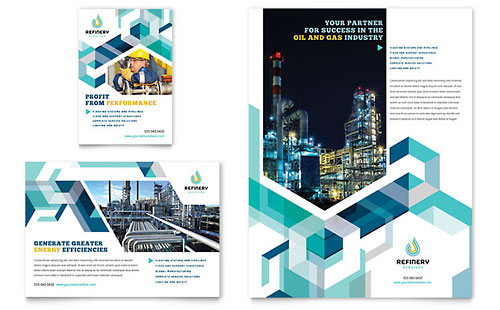 Oil & Gas Company Flyer & Ad Template