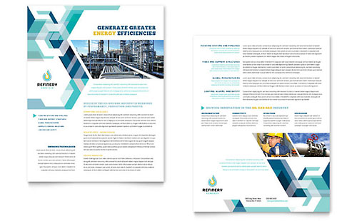 Oil & Gas Company Datasheet Template