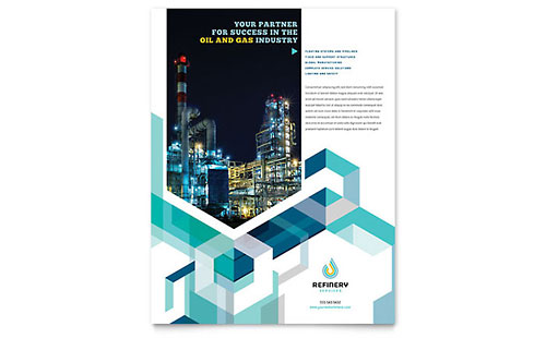 Oil & Gas Company Flyer Template