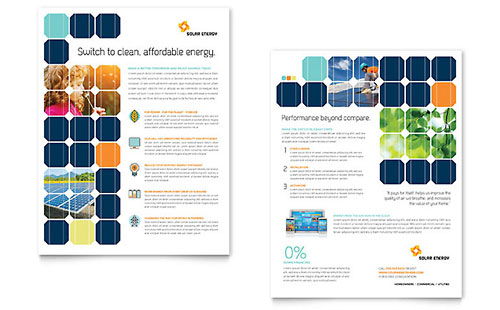 Solar Energy - Sales Sheet Template