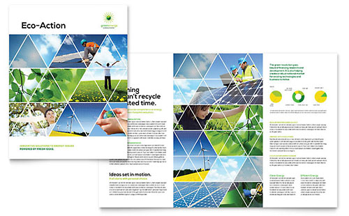 Renewable Energy Consulting Brochure Template Design