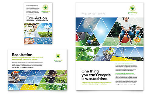 Green Energy Consultant Print Ad Template