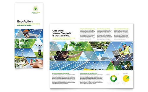 Energy environment marketing brochures flyers for Environment brochure template