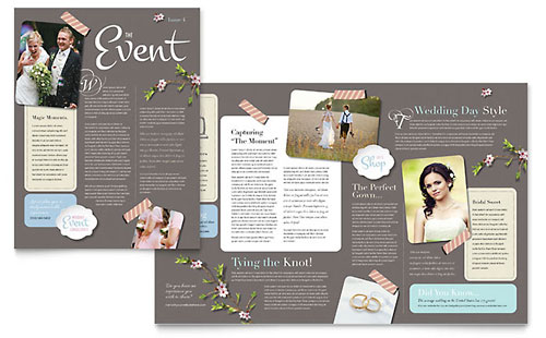 Wedding Planner Newsletter Template