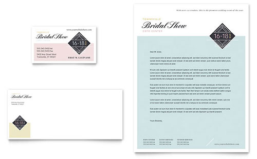 Bridal Show Business Card Template