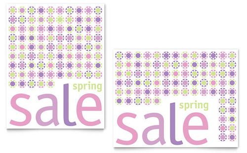 Geometric Spring Color Sale Poster Template