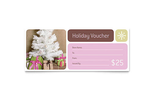 Contemporary Christmas Gift Certificate Template
