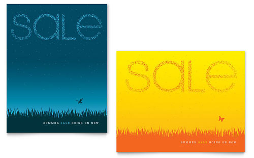 Summer Sky Sale Poster Template