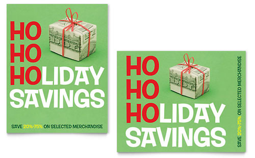 Holiday Savings Sale Poster Template