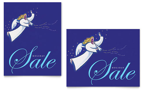 Christmas Angel Sale Poster Template