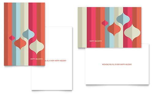 Modern Ornaments Greeting Card Template
