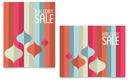Modern Ornaments Sale Poster Template