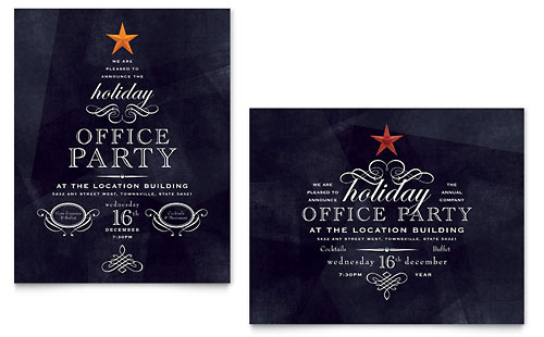 Office Holiday Party Poster Template