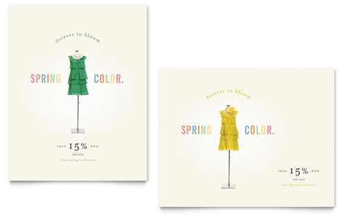 Fashion Clothing Sale Poster Template
