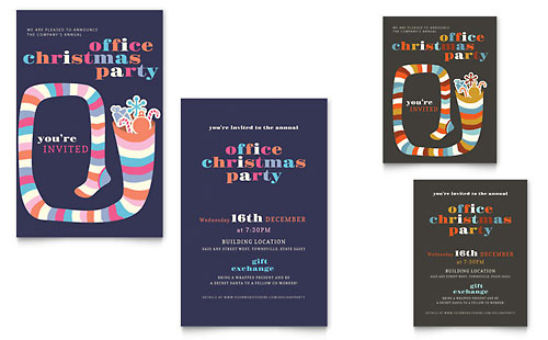 Christmas Party Note Card Template