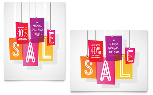 Clearance Tag Sale Poster Template