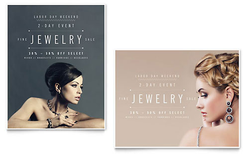 Fine Jewelry Sale Poster Template