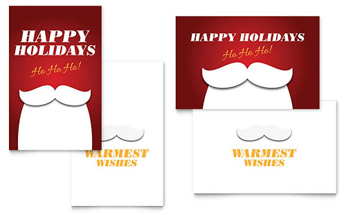 Ho Ho Ho Greeting Card Template Design