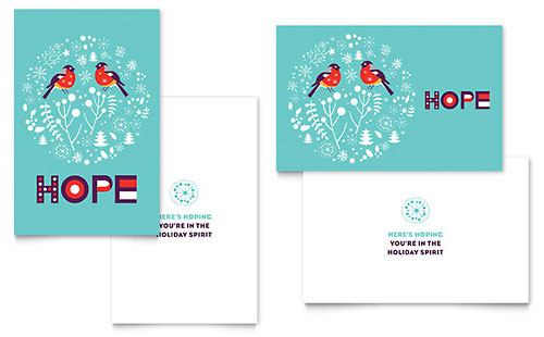 Hope - Sample Greeting Card Template