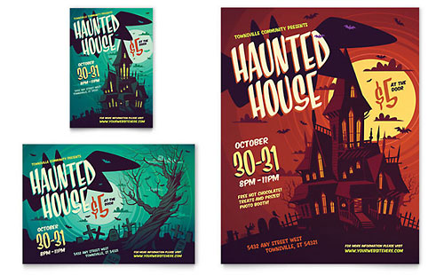 Haunted House Flyer & Ad