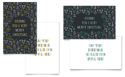 Glad Tidings Greeting Card Template Design