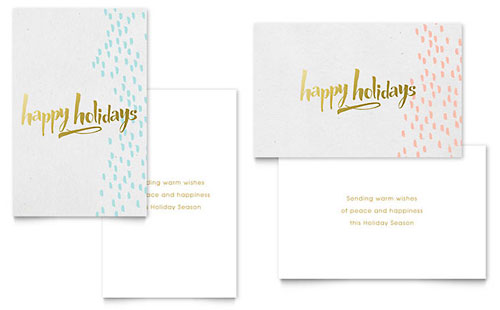 Elegant Gold Foil Greeting Card Template
