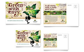Landscape Design - Postcard Sample Template