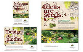 Landscape Design - Flyer & Ad