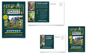 Farmers Market - Postcard Template