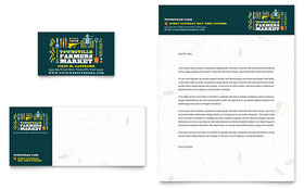 Farmers Market - Business Card & Letterhead Template