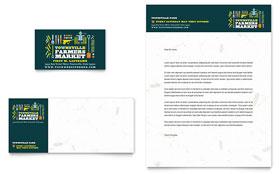 Farmers Market - Business Card & Letterhead Template