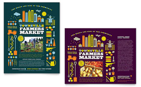 Farmers Market - Poster Template Design Sample