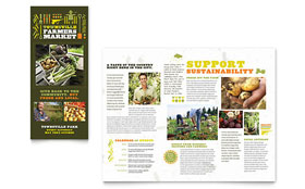 Farmers Market - Tri Fold Brochure Template Design Sample