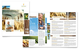 Farming & Agriculture - Brochure Template Design Sample