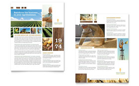 Farming & Agriculture - Datasheet Template Design Sample