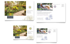Urban Landscaping - Postcard Template