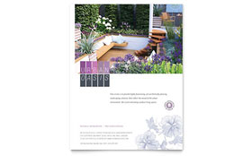 Urban Landscaping - Flyer Template Design Sample