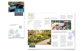 Urban Landscaping - Tri Fold Brochure Template
