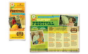 Harvest Festival - Print Design Brochure Template