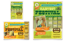 Harvest Festival - Flyer & Ad Template