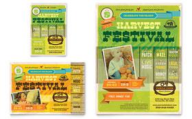 Harvest Festival - Flyer & Ad Template
